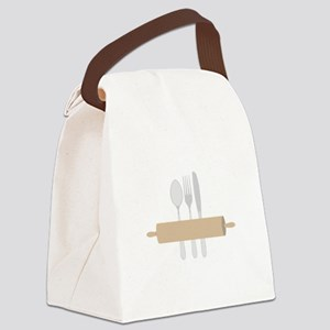 Rolling Pin & Utensils Canvas Lunch Bag
