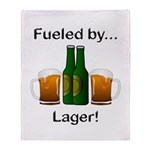 Fueled by Lager Throw Blanket