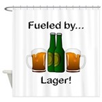 Fueled by Lager Shower Curtain