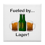 Fueled by Lager Tile Coaster