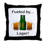 Fueled by Lager Throw Pillow