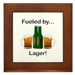 Fueled by Lager Framed Tile