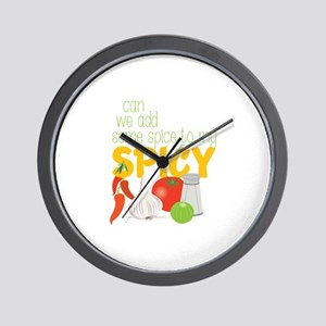 We Add Spice Wall Clock