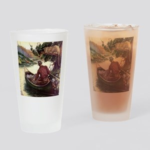 Canoe and Cougar Drinking Glass