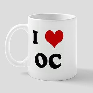 I Love OC Mug