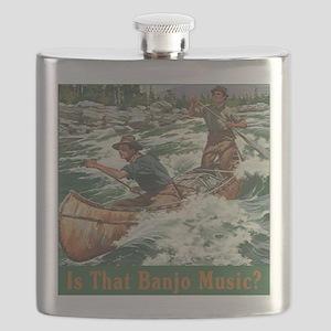Banjo Music White Water Flask