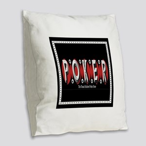 Texas Holdem POKER Burlap Throw Pillow