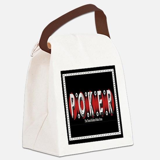 Texas Holdem POKER Canvas Lunch Bag