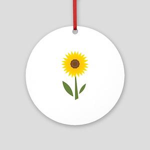 Sunflower Base Ornament (Round)