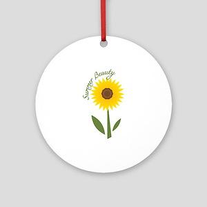 Summer Beauty Ornament (Round)