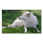 White Wolf Rectangle Sticker