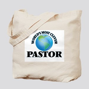 World's Most Clever Pastor Tote Bag