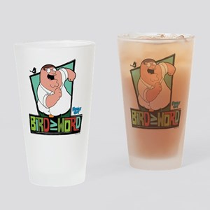 Family Guy Bird is the Word Drinking Glass
