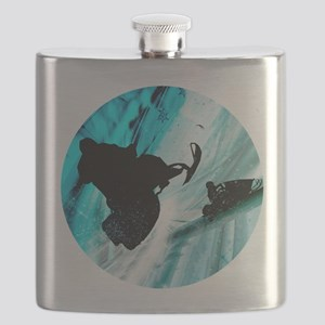 Snowmobiling on Icy Trails Flask