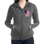 American Flag And Capitol Building Women's Zip Hoo