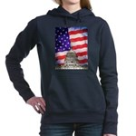 American Flag And Capitol Building Women's Hooded