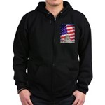 American Flag And Capitol Building Zip Hoodie