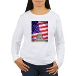 American Flag And Capitol Building Long Sleeve T-S
