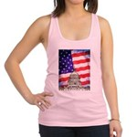 American Flag And Capitol Building Racerback Tank