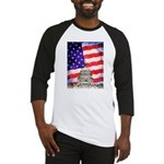 American Flag And Capitol Building Baseball Jersey