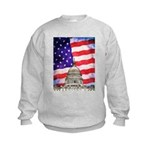 American Flag And Capitol Building Sweatshirt