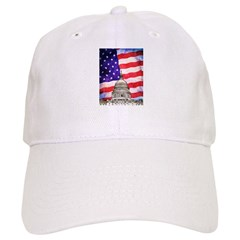 American Flag And Capitol Building Baseball Baseball Cap