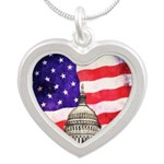 American Flag And Capitol Building Necklaces