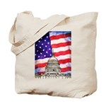 American Flag And Capitol Building Tote Bag