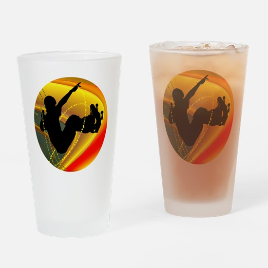 Skateboarding Silhouette in the Bow Drinking Glass