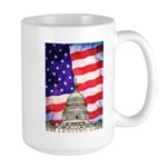 American Flag And Capitol Building Mugs