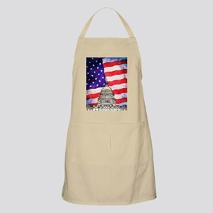 American Flag And Capitol Building Apron