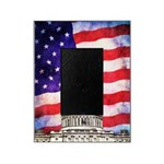 American Flag And Capitol Building Picture Frame