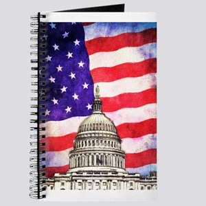 American Flag And Capitol Building Journal