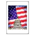 American Flag And Capitol Building Banner
