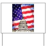 American Flag And Capitol Building Yard Sign