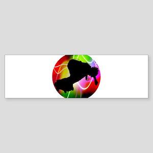 Electric Spectrum Skateboarder Bumper Sticker