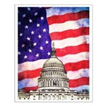 American Flag And Capitol Building Posters