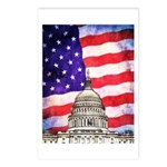 American Flag And Capitol Building Postcards (Pack