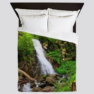 waterfall in Val di Sole Queen Duvet