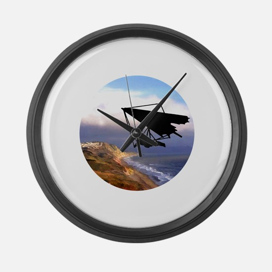 Hang Gliding Over the California Large Wall Clock