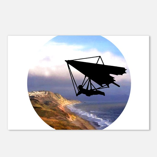 Hang Gliding Over the Cal Postcards (Package of 8)