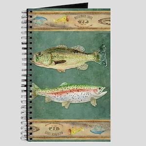 Fishing Cabin Lake Lodge Plaid Decor Journal