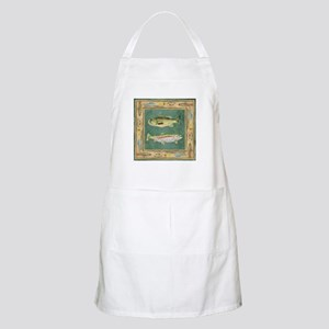 Fishing Cabin Lake Lodge Plaid Decor Apron