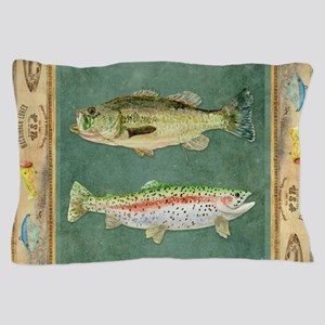 Fishing Cabin Lake Lodge Plaid Decor Pillow Case