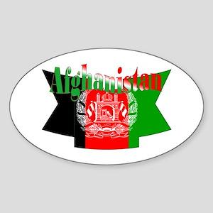 Afghan flag ribbon Sticker (Oval)