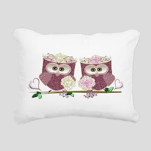 Two Brides Cute Wedding Rectangular Canvas Pillow