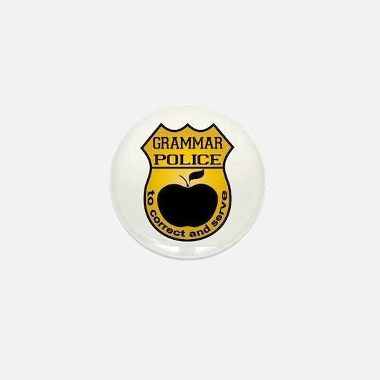 Grammar Police Mini Button