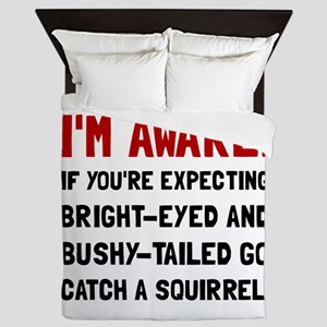 Go Catch Squirrel Queen Duvet