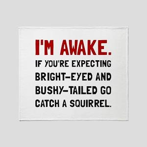 Go Catch Squirrel Throw Blanket
