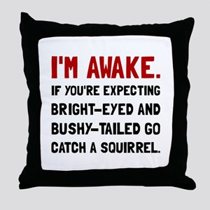 Go Catch Squirrel Throw Pillow